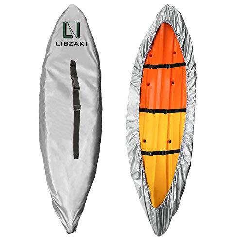 LIBZAKI 10.8-12ft Waterproof Kayak Cover-300D Storage Dust Cover UV...