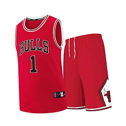 Chicago Bulls Derrick Rose # 1 Conjunto de camiseta de baloncesto para hombres, número MVP memorable Jersey Sudaderas para hombres y mujeres Apto para hombres y mujeres, Camisas POLO Party POLO-XXXXL