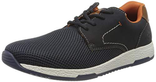Rieker Herren B9422 Sneaker, Blau (Atlantis/Pazifik/Amaretto/ 14 14), 42 EU