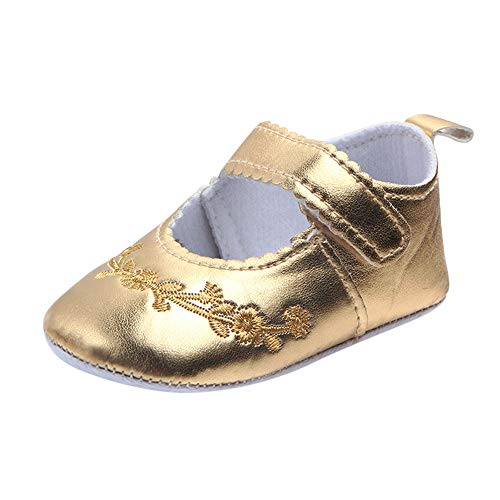 Trunlay Baby Schuhe Mädchen Junge Mode Stickerei Blume Schuhe Weiche Lauflernschuhe rutschfest Krabbelschuhe Turnschuhe Sneaker Neugeborene Schuhe 3-12 Monate
