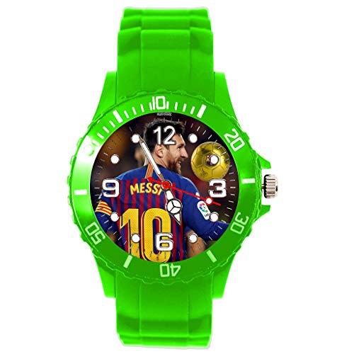 Armbanduhr für Fußball-Fans, Silikon, Grün