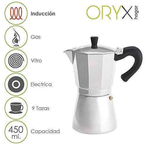 ORYX 5056023 Oryx 5056023 Cafetera Inducción Aluminio 9 Tazas (450 Ml.)