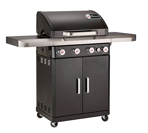 LANDMANN Barbecue 12231 Lot 4.1 PTS rexon Barbecue à gaz – Noir