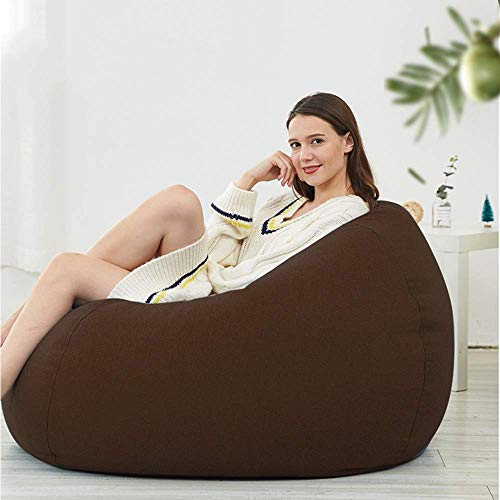 LXH-SH Faules Sofa Bean Bag Stühle Big Faule Sofa Schlafzimmer Balkon faul Stuhl (Farbe: Orange, Größe: XL) Slow-Sofa. (Color : Brown, Size : Medium)