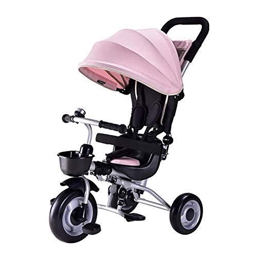 NUBAO Triciclo Passeggino 3 in 1 Triciclo per Bambini con Bambini Regolabili Treke Tenda da Sole Adatti per 12 Mesi -5 Anni Bambini Pesi massimi 25 kg (Color : B)