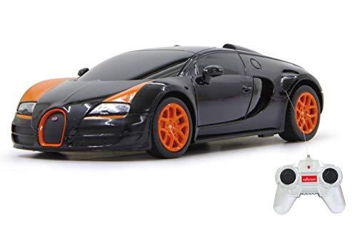 Jamara 404551 40 MHz Echelle 1/24 Noir Bugatti Veyron Grand Sport Vitesse Voiture de