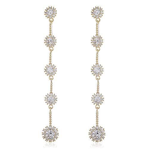 Atmospheric trend temperament long diamond-studded popular earrings earrings earrings fashion earrings women