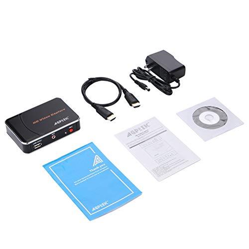 AGPTEK HD Game Capture 1080P HDMI Videorekorder Sprachaufnahme, Kompatibel mit WiiU/Nintendo-Switch/Xbox One/PS4 usw. Unterstützung für Mic