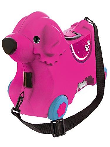 BIG 800055353 - Bobby-Trolley, Kinderkoffer, Kindergepäck, rosa
