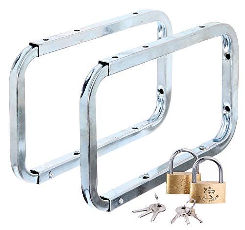 GAH-Alberts 802622 Leiterhaken | abschließbar | galvanisch blau verzinkt | Gesamttiefe 282 mm | Bügeltiefe 216 mm | 2er Set