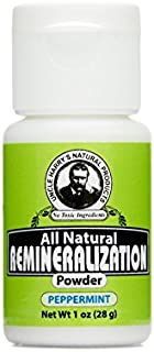 Uncle Harry's Natural Products Peppermint Remineralization Tooth Powder with Alkalizing Ionic Minerals Pure Plant Essences...