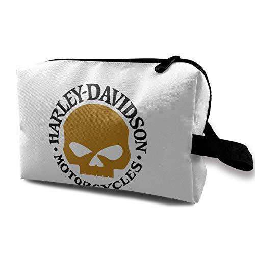 Harley David-Son Tragbare Reise Make-up Taschen Kulturbeutel Lage Kosmetische Packtasche mit Reißverschluss