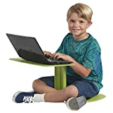 ECR4Kids The Surf Portable Lap Desk, Flexible Seating for Homeschool and Classrooms, One-Piece Writing Table for Kids, Teens and Adults, GREENGUARD [Gold] Certified, Green