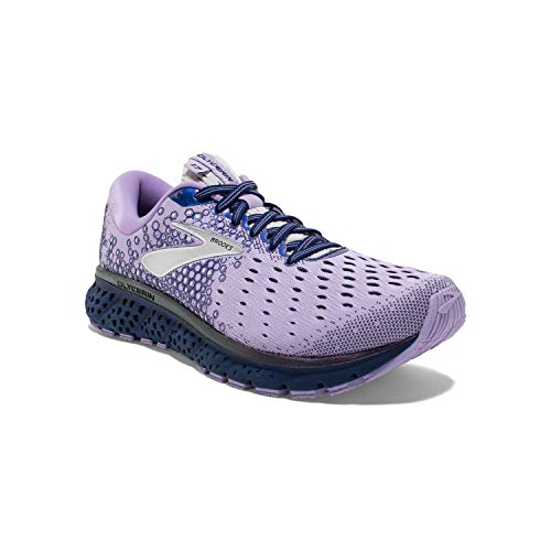 Brooks Womens Glycerin 17 Running Shoe - Purple/Navy/Grey - B - 9.5