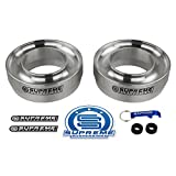 Supreme Suspensions - Front Leveling Kit for 1999-2007 Chevrolet Silverado/GMC Sierra 1500 3' Front Lift Spring Spacers 2WD (Silver)