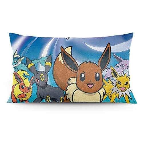 Aoocasi Hot Anime Cute Pikachu Eevee Evolution Cartoon Long Pillow Case...