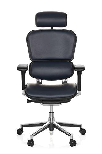 HJH OFFICE 652200 bureaustoel/managerstoel Ergohuman leer 63 x 69 x 142 cm donkerblauw