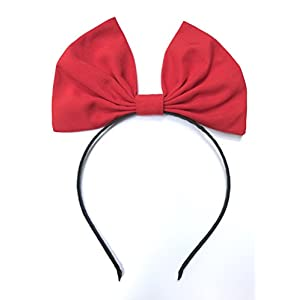 Red Hair Band Bow Headband for Witch Kiki's delivery Service Cosplay