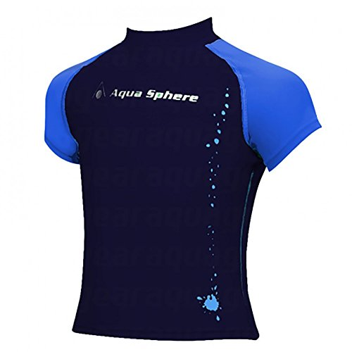 Aqua Sphere Youth Rashguard 10Y - SJ135044010Y, 10 Años, Azul Marino