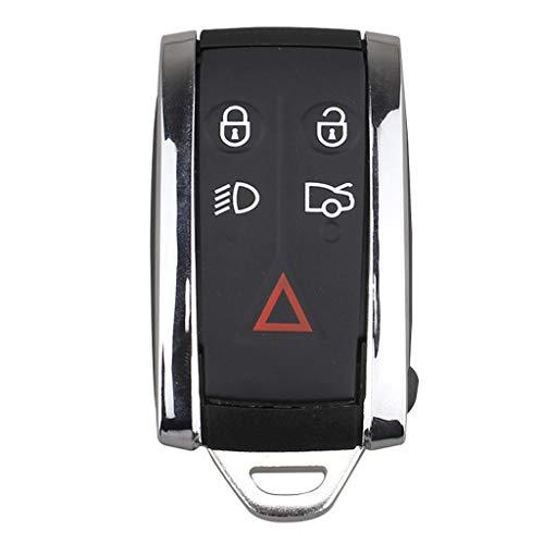 Almencla 5 Tasten Schlüssel Gehäuse Smart Key Shell aus ABS-Kunststoff Ersatz für Jaguar XF/XK/XKR/X-Type/S-Type