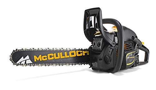 McCulloch Benzin-Kettensäge CS 450 Elite, Motorsäge mit 2000 W Motorleistung, 45 cm Schwertlänge, doppelte Kettenbremse (Art.-Nr. 00096-66.317.18)