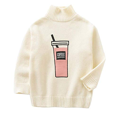 Baby Girl Tops Knitted Turtleneck Cotton Sweater Warm Kids Baby Knit Infant High Collar W 7