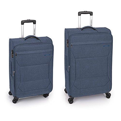 Gabol - Board | Juego de Maletas de Viaje de Color Azul con Trolley Mediano y Trolley Grande
