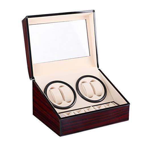 Watch winder Scatola orologio a carica automatica in legno per 4+6 orologi da polso