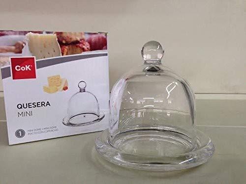 Assiette avec couvercle, 12 cm, en verre, base cloche Mini Cocotte