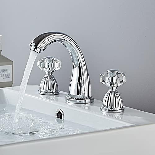 Grifo de la cocina Grifo de lavabo Pistola de baño gris Grifo de lavabo de 3 orificios Ampliado Dorado/Negro/Cromado Mezclador de lavabo Grifo de agua fría y caliente Nuevo