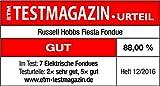 Russell Hobbs Fondue Set Fiesta (Käsefondue, Schokofondue oder Öl-Fondue), 6 Gabeln, spülmaschinenfester Edelstahl-Topf, 1200 Watt, elektrisches Fondueset 22560-56 - 5