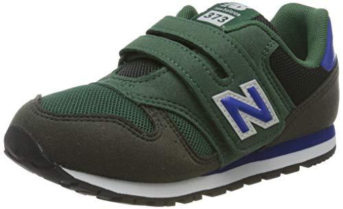 New Balance Jungen 373v2 Sneaker, Blau (Navy/Green Ke), 30 EU