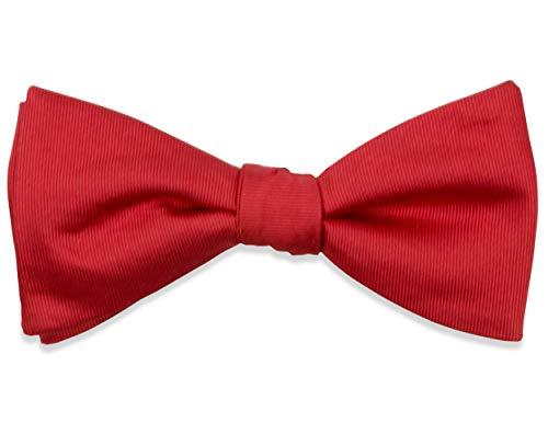 THE SUITS CREW THE SUITS CREW Rote Fliege Herren Rot aus Seide Gebunden Verstellbar Handgefertigt Einfarbig für Anzug
