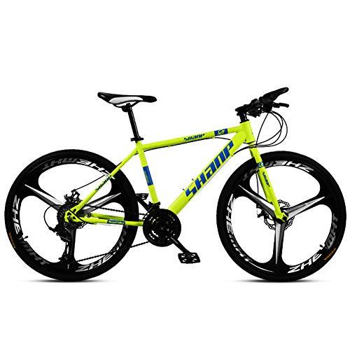 Nengge Mountainbike, mountainbike, 24 inch (61 cm) met dubbele schijfrem, stalen frame met hoog koolstofgehalte voor mannen vrouwen en kinderen
