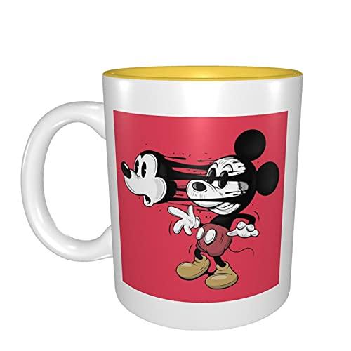 Min-Nie Mouse - Taza de cerámica con diseño de ratón, de porcelana esmerilada, para oficina y hogar, capacidad máxima de 330 ml