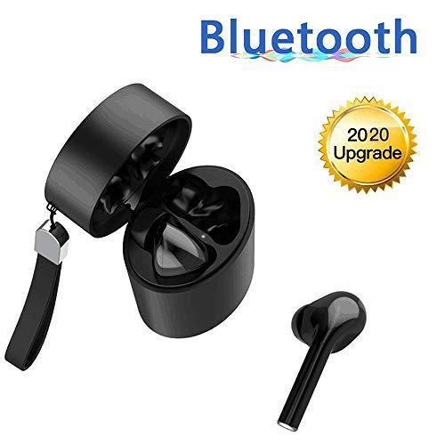 Auriculares Bluetooth 5.0, Control táctil Mini Cascos Sin Cable TWS Auriculares en la Oreja Cascos Inalámbricos Deporte con Estuche de Carga Portátil Compatible con Android iOS