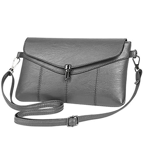 Vintage Leather Handbags Hotsale Women Wedding Clutches Ladies Party Purse Designer Crossbody Shoulder,Gray