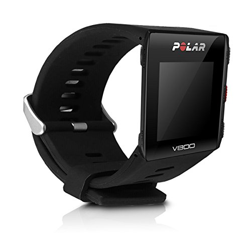 kwmobile Pulsera Compatible con Polar V800 - Brazalete de Silicona en Negro sin Fitness Tracker