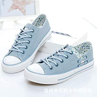 BEESCLOVER Summer High Help Lace-Up Shoes Women Sneakers Classic Sports Shoes