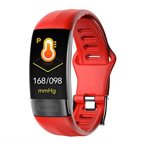 ZGNB P11 Smart Watch Men and Women ECG Cambio De Frecuencia Cardíaca Monitoreo Presión Arterial Ejercicio IP67 Pedómetro Impermeable Correa Inteligente Vs T1 E18 para Android iOS,B