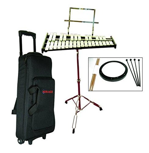 GP Percussion Bell Kit, Glockenspiel, Xylophone, Stand, Bag, Pad