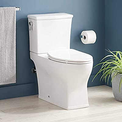 Signature Hardware 948432-12-L Carraway 1.28 GPF Two Piece Elongated Skirted Chair Height Toilet - Seat Included