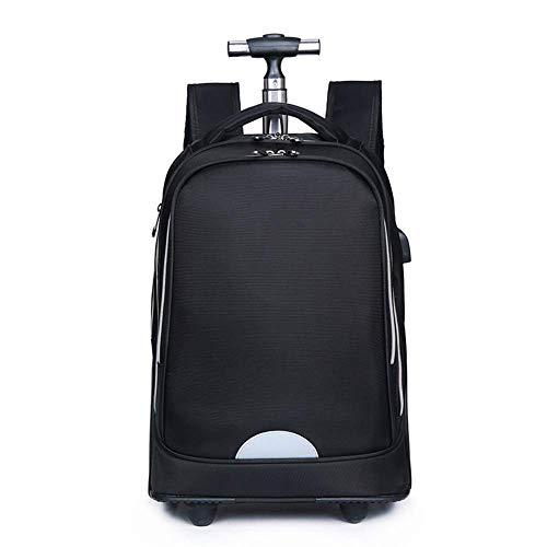 Suytan Myalq Trolley Backpack Children's Suitcase Hand Luggage 50 cm, 35L(Black)