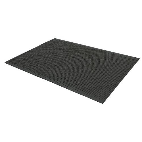 Rubber-Cal 03-161-BK-W-302'Safe-Grip' Slip-Resistant Traction Mats, 34' x 2' x 1/4', Black Rubber Runner