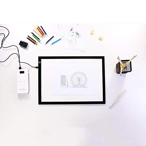 DYecHenG Tablero de Copia LED Profesional A3 LED Copia Box Junta Super Slim de luz Ideal for el Dibujo copiando y Rastreo para Visualización de Rayos X (Color : Black, Size : 47x37x0.5cm)