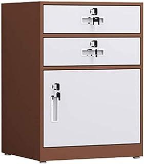 Classeurs Bureau de fichiers de Verrouillage Cabinet Made in Lock de prévention des incendies avec 2 tiroirs et 1 Porte Ar...