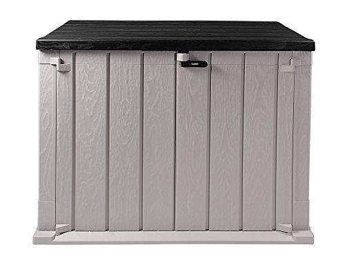 Ondis24 Mülltonnenbox Storer Basic Gerätebox abschließbar für 2 Mülltonnen (842 Liter, Grau-Anthrazit)