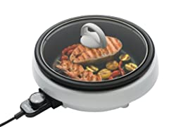 3 in 1 cooking pot: This portable indoor grill combines a grill, steamer and slow cooker to bring you a versatile cooking pot that will take the effort out of preparing delicious meals. It produces a deep grilled flavor in every weather right on your...