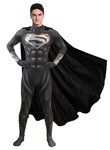 Halloween DC Comics Deluxe Black Superman Costume Justice...
