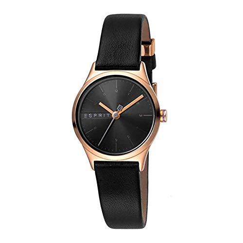 Esprit Damen Analog Quarz Uhr mit Leder Armband ES1L052L0035